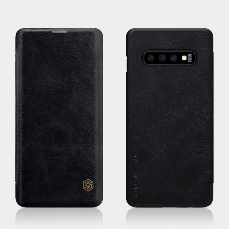Чехол- книжка NILLKIN QIN Series на Samsung Galaxy S10-черный