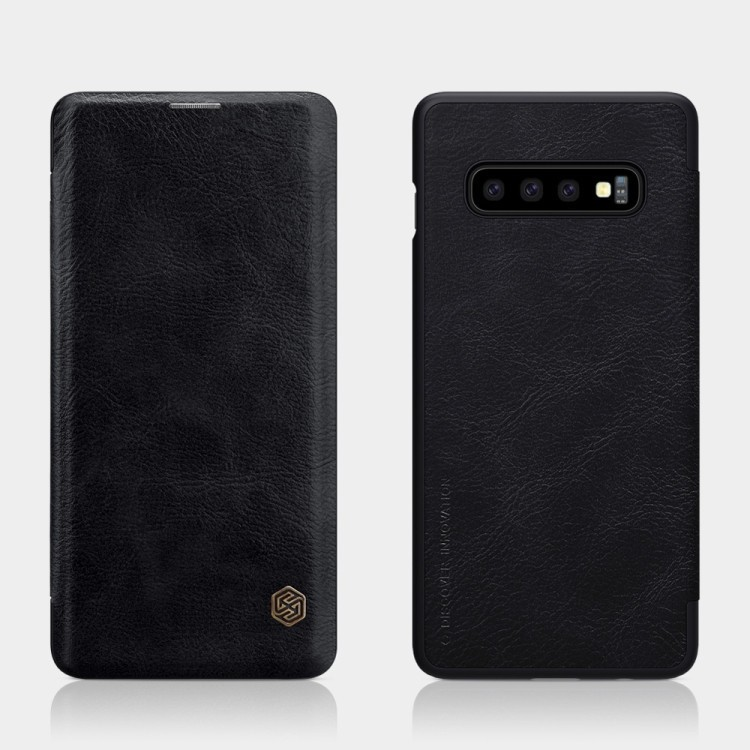 Чехол- книжка NILLKIN QIN Series на Samsung Galaxy S10 plus-черный