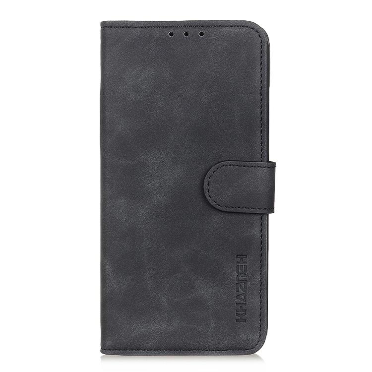 Черный чехол-книжка KHAZNEH Cowhide Texture на iPhone 12 Mini