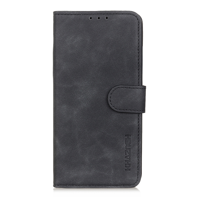 Черный чехол-книжка KHAZNEH Cowhide на iPhone 12 Pro Max