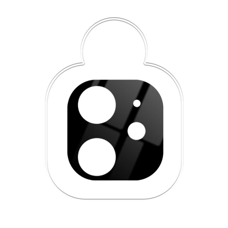 Защитное стекло на камеру Айфона 12 Мини черного цвета