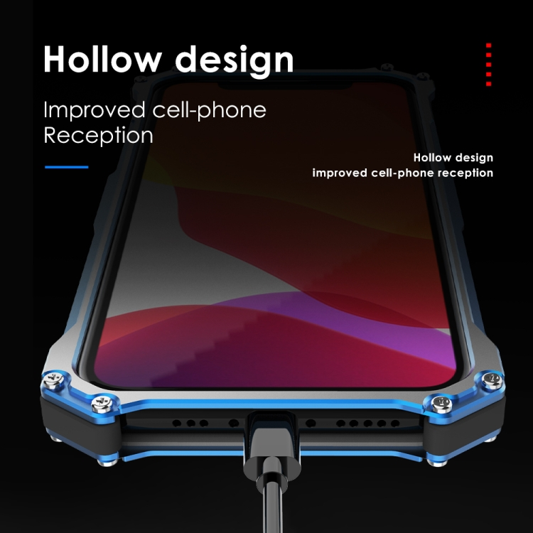 Противоударный металлический чехол на Айфон 12 Mini- синий