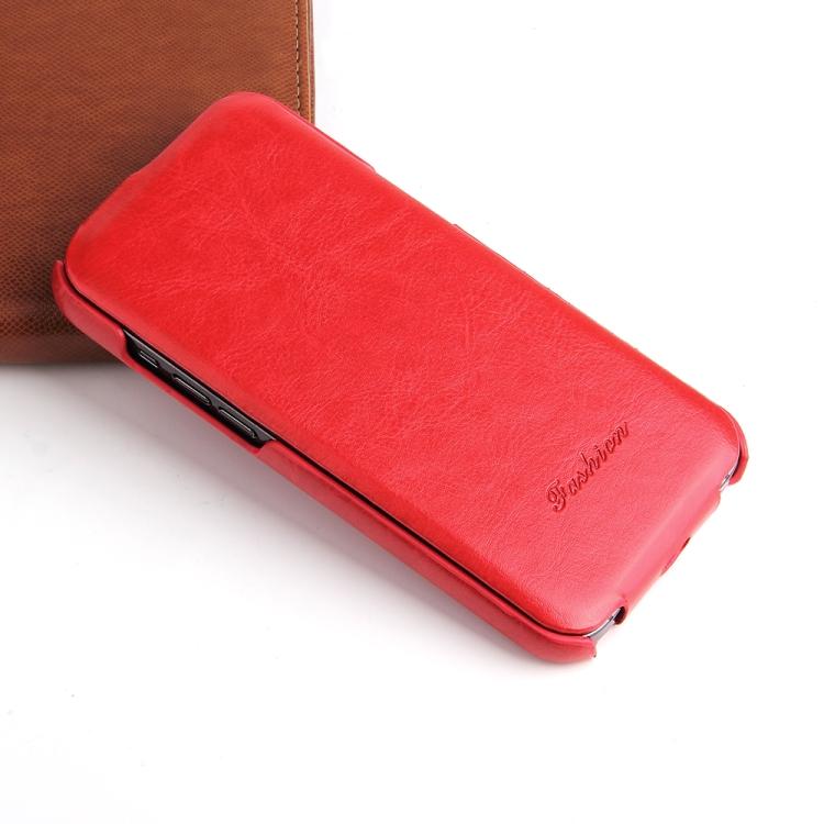 Ударостойкий чехол-книжка красного цвета для Айфон 12 Мини
