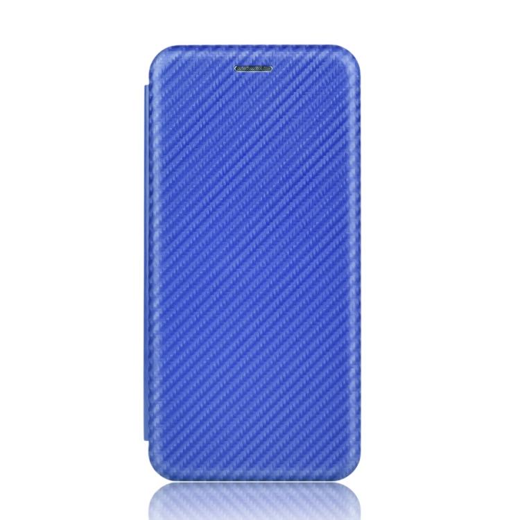 Чехол-книжка Carbon Fiber Texture на Xiaomi Poco X3 / Poco X3 Pro - синий