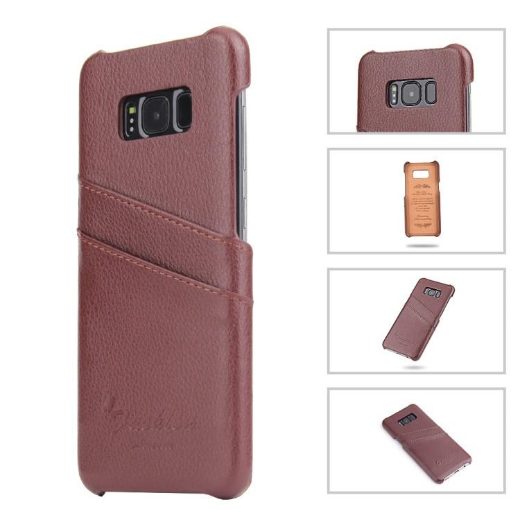 Кожаный чехол Fierre Shann Litchi Texture на Samsung Galaxy S8+