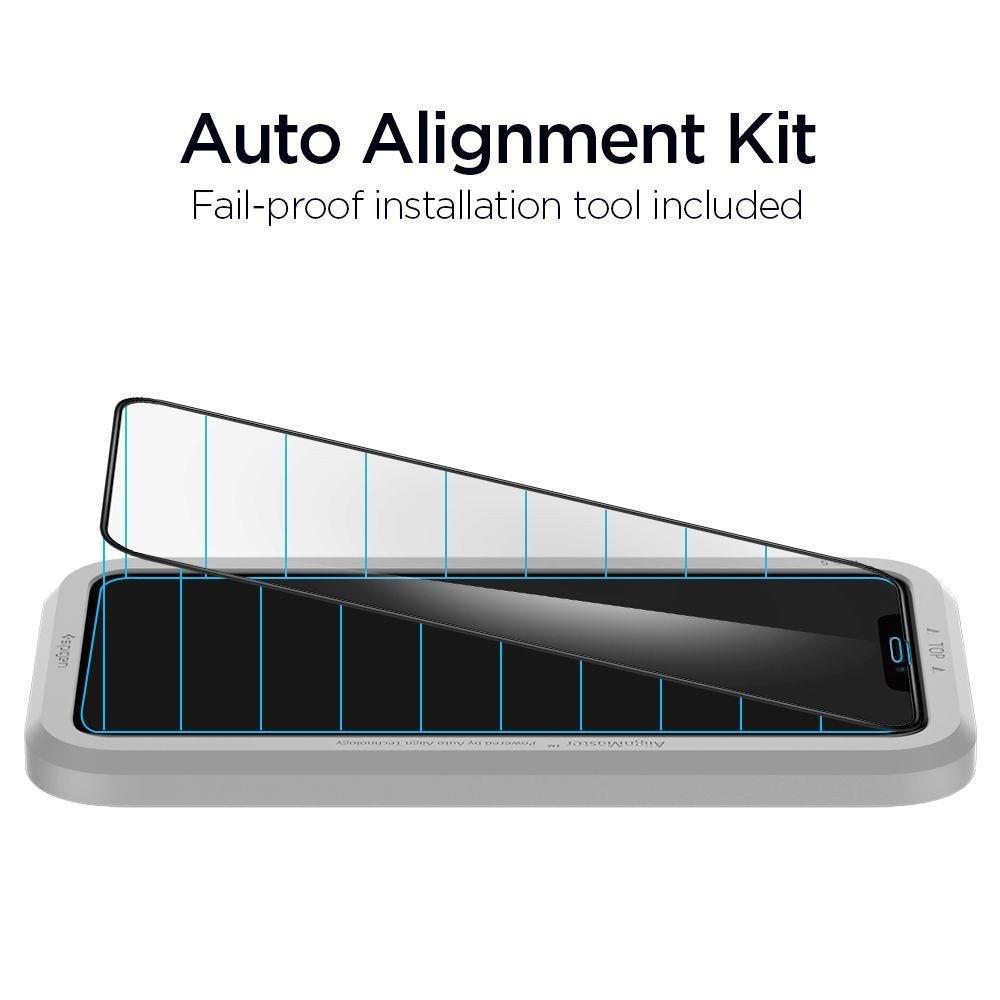 Защитное каленое стекло Спиген Алм Глас Фк для Айфон 11 черное