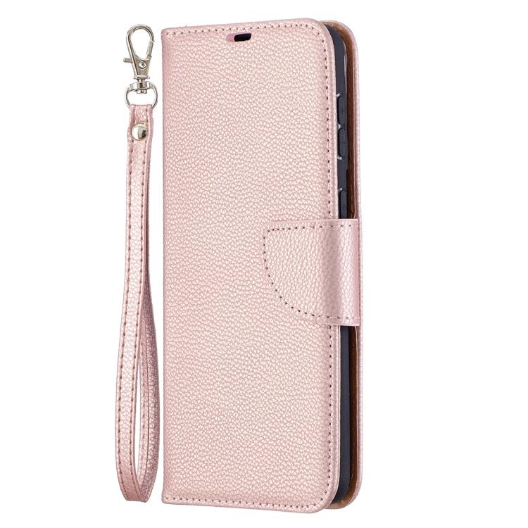 Розовый чехол-книжка Litchi Pure для Samsung Galaxy S21 Plus