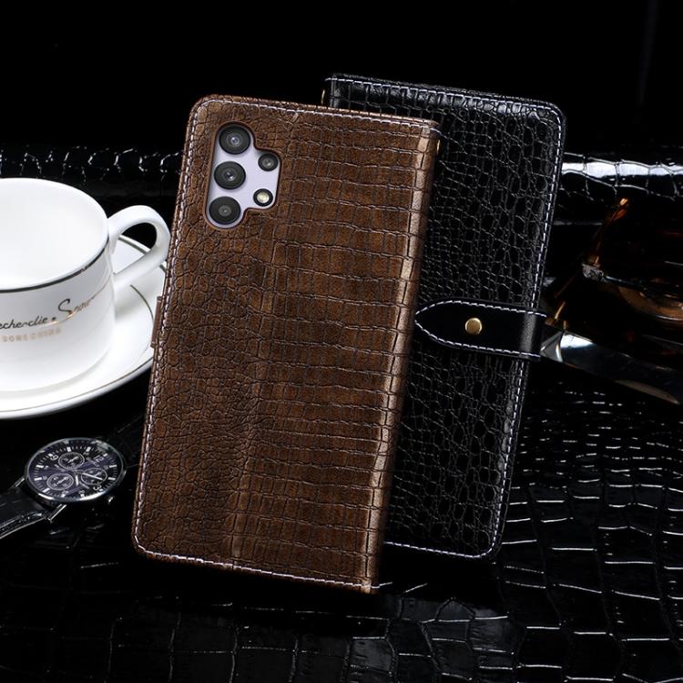 Чехол-книжка Crocodile idewei Texture на Samsung Galaxy A32 4G