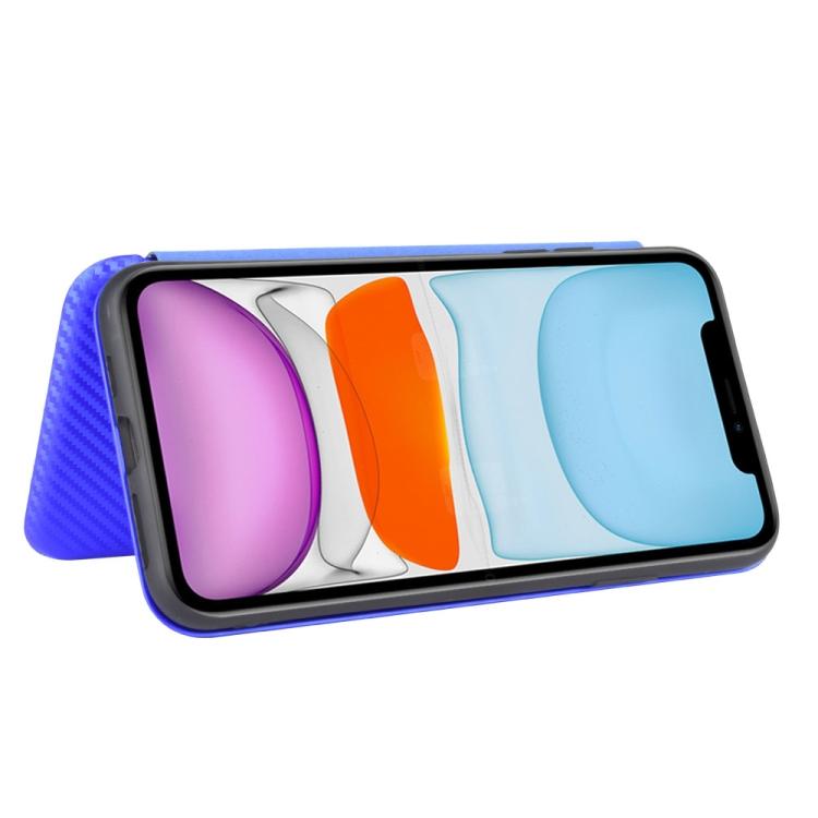 Чехол-книжка ударостойкий для Айфон 12 синего цвета