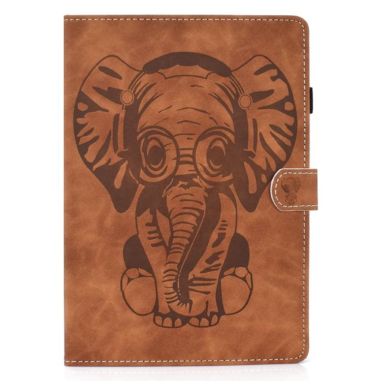 Коричневый чехол-книжка с слоном на Айпад Аир 4 10.9