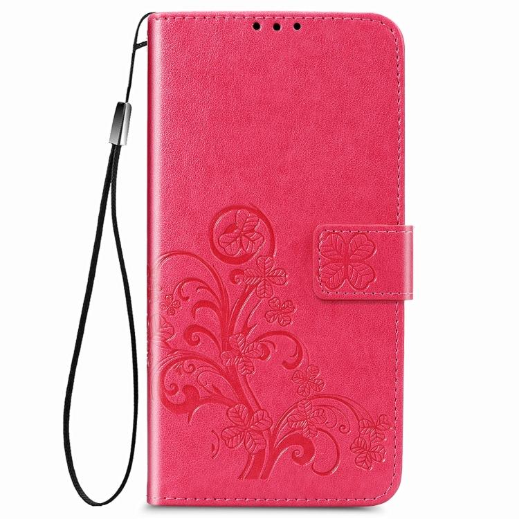 Красный чехол-книжка Clasp Buckle на Samsung Galaxy A12/M12