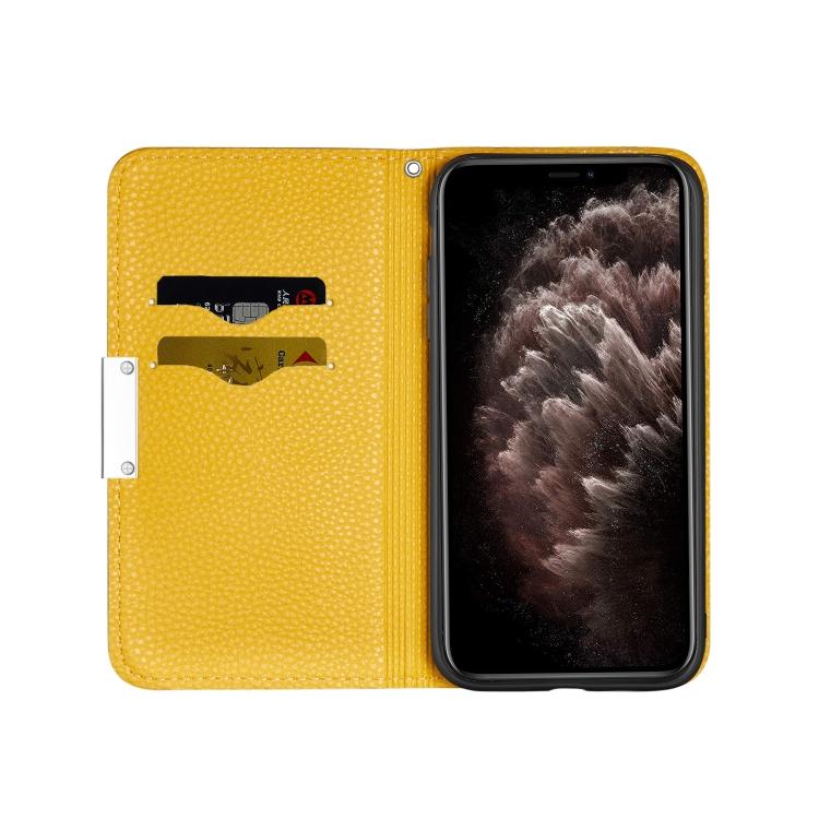 Чехол-книжка со слотами для Айфон 12 Про Макс - желтый