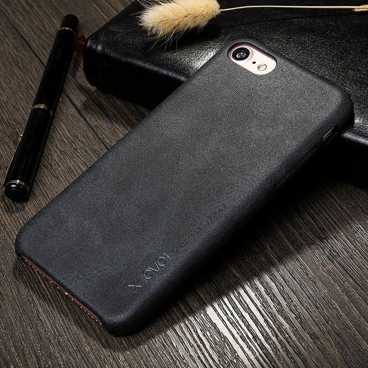 Чехол- накладка X-Level Luxury Vintage на iPhone SE 2020/8/7 - Черный