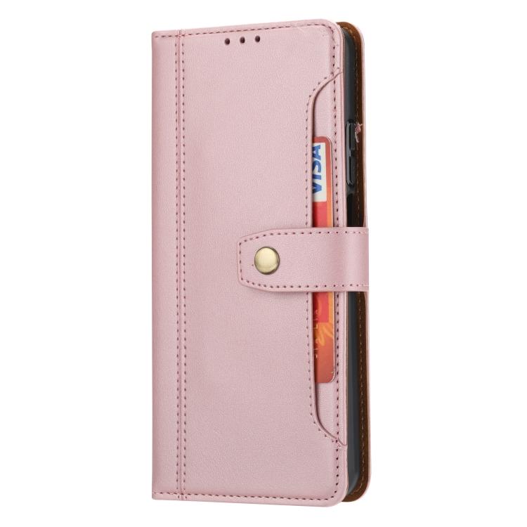 Розовый ударостойкий чехол-книжка для Самсунг Гелекси А52
