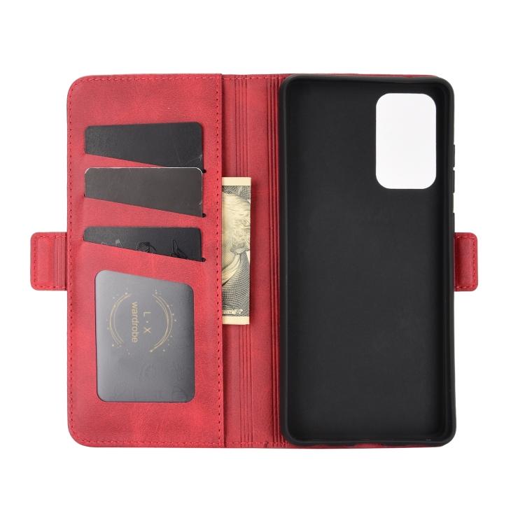 Защитный кожаный чехол-книжка с слотами под кредитки на Самсунг Гелекси А72