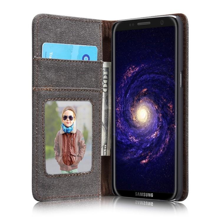 Чехол-книжка CaseMe 006 Series Card магнитная крышка на Samsung Galaxy S8+ / G955- черный