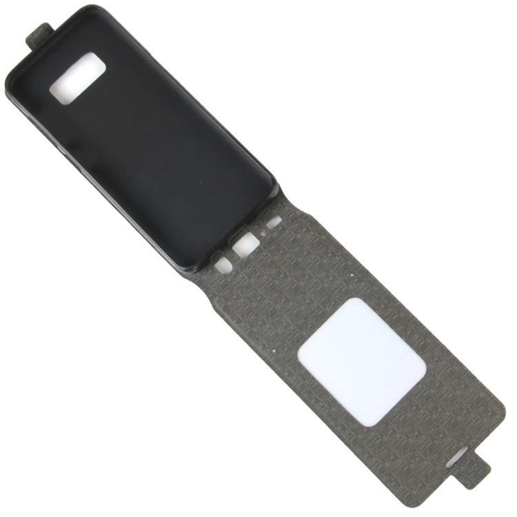 Кожаный флип- чехол на   Самсунг Гелекси S8/G950-черный