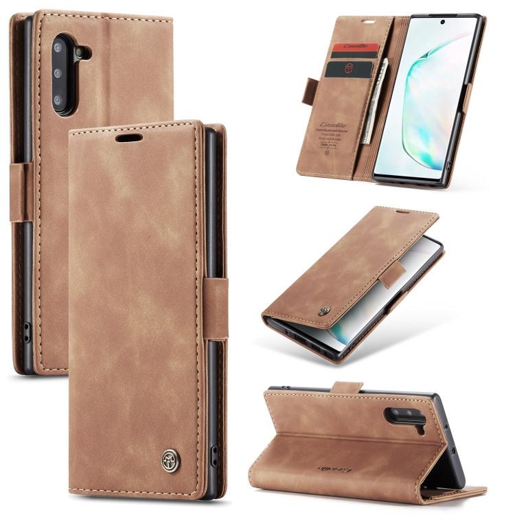 Кожаный чехол CaseMe-013 Multifunctional на Samsung Galaxy Note 10- коричневый