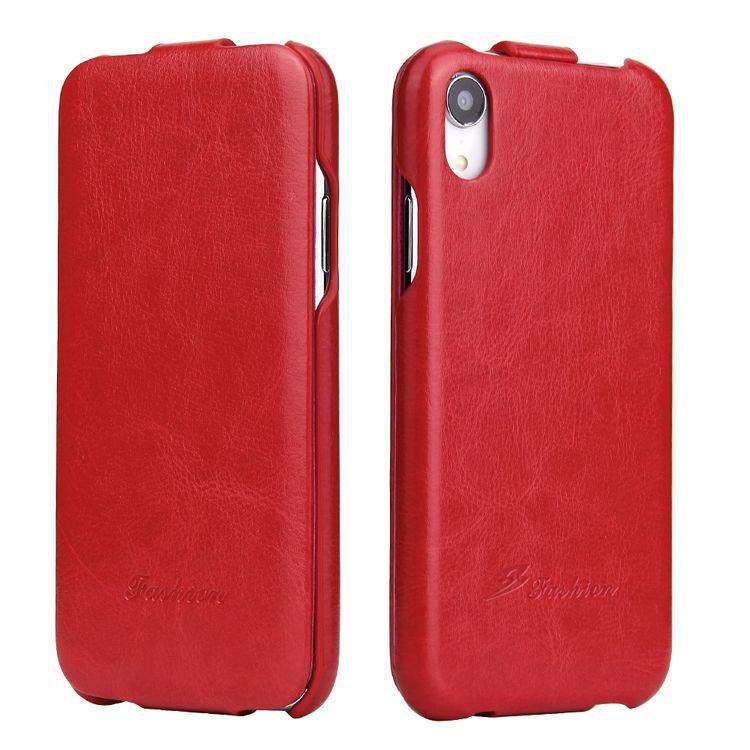 Чехол жабка противоударный красного цвета на магнитной защелке для Айфон ХР 6.1