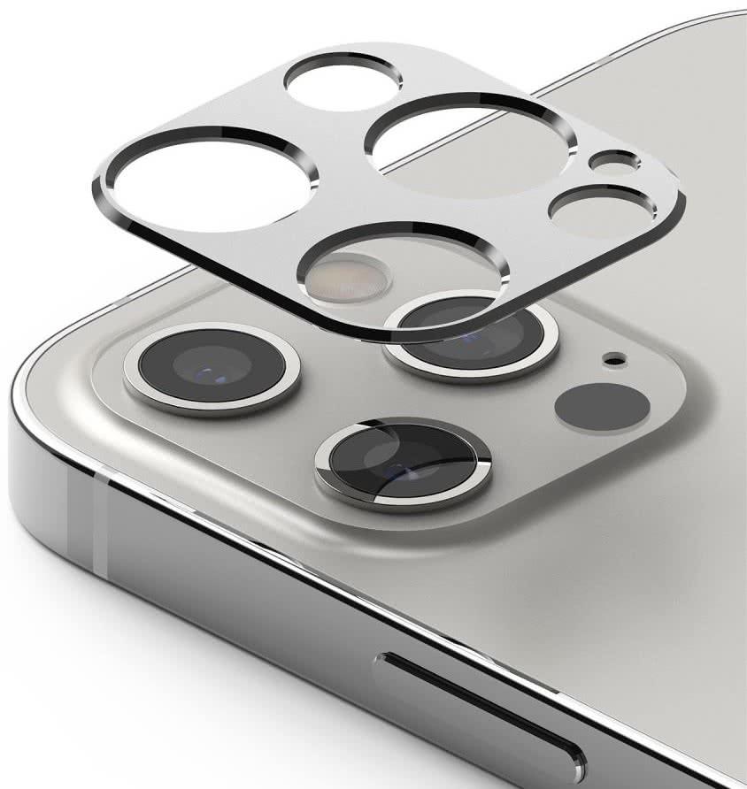 Защита камеры Ringke Camera Styling для iPhone 12 Pro Max - серебристая