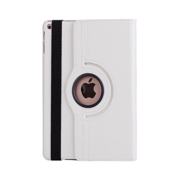 Кожаный Чехол 360 Degree Litchi Texture на Айпад Мини 5 (2019/ Мини 4 )-белый