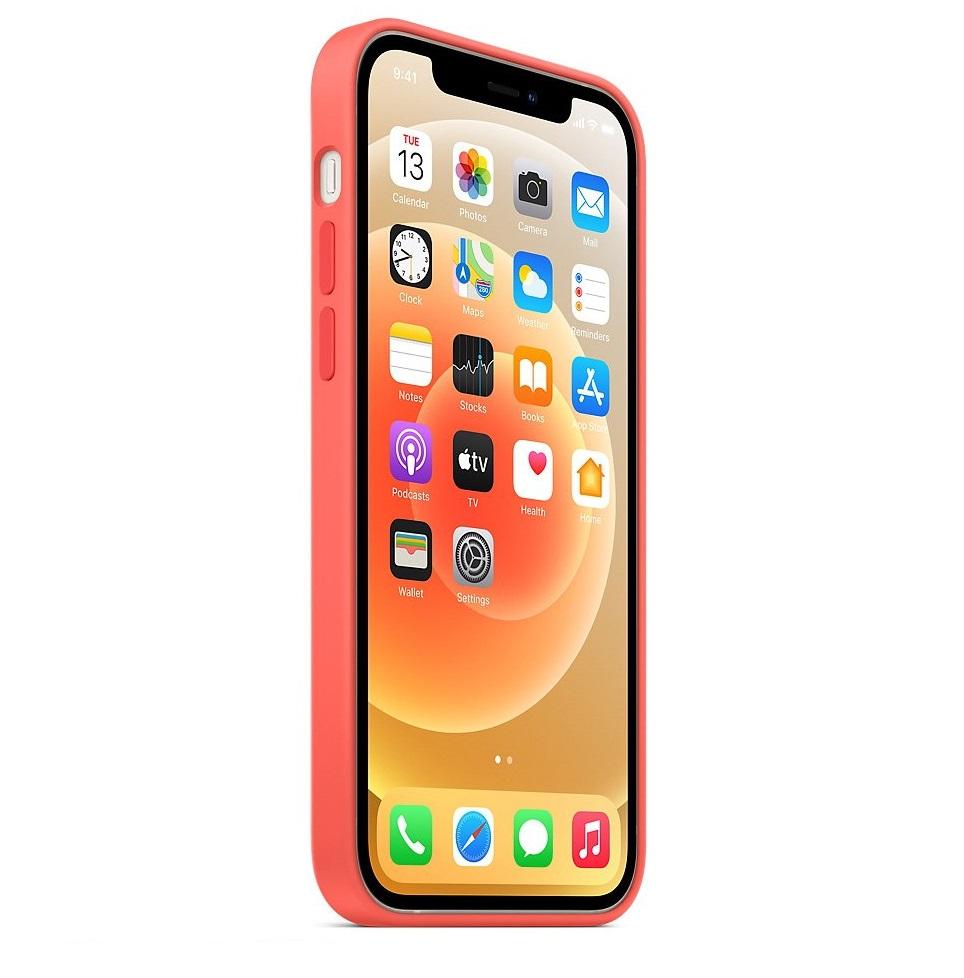 Красный чехол накладка силиконовый на Айфон 12
