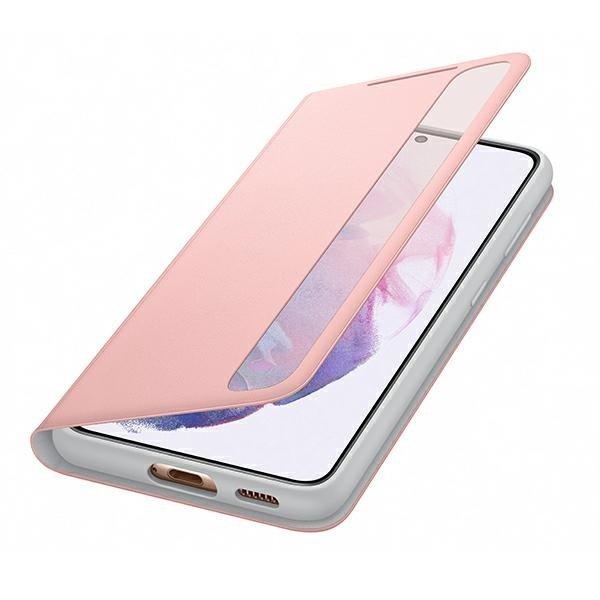 Оригинальный чехол-книжка Samsung Clear View Standing Cover для Самсунг S21 pink