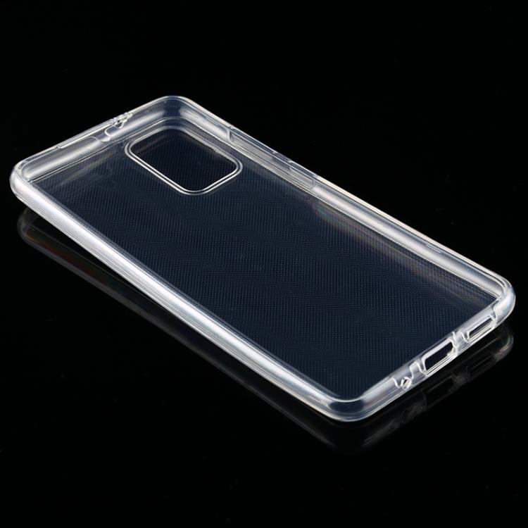 Двусторонний силиконовый чехол на Samsung S20 Plus