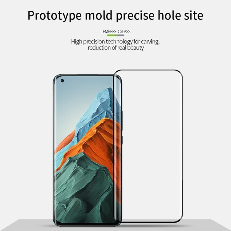 Защитное стекло MOFI 9H 3D Full Screen на Xiaomi Mi 11 Pro - черное