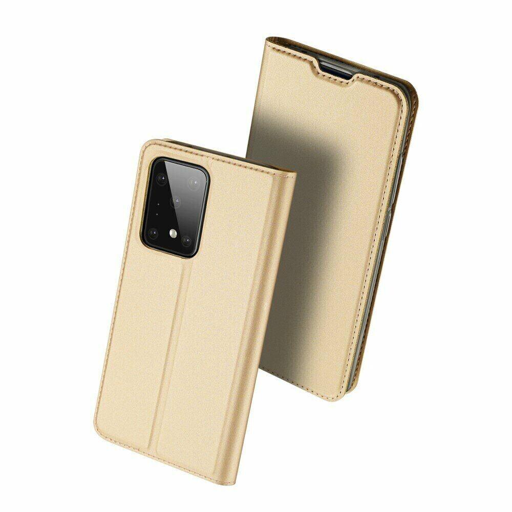 Золотой чехол-книжка DUCIS  на Samsung Galaxy S20 Ultra