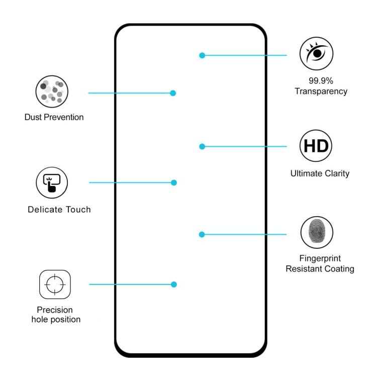 3D защитное стекло клейкое всей поверхностью ENKAY Hat-prince Full Glue для  Samsung Galaxy A80-черное