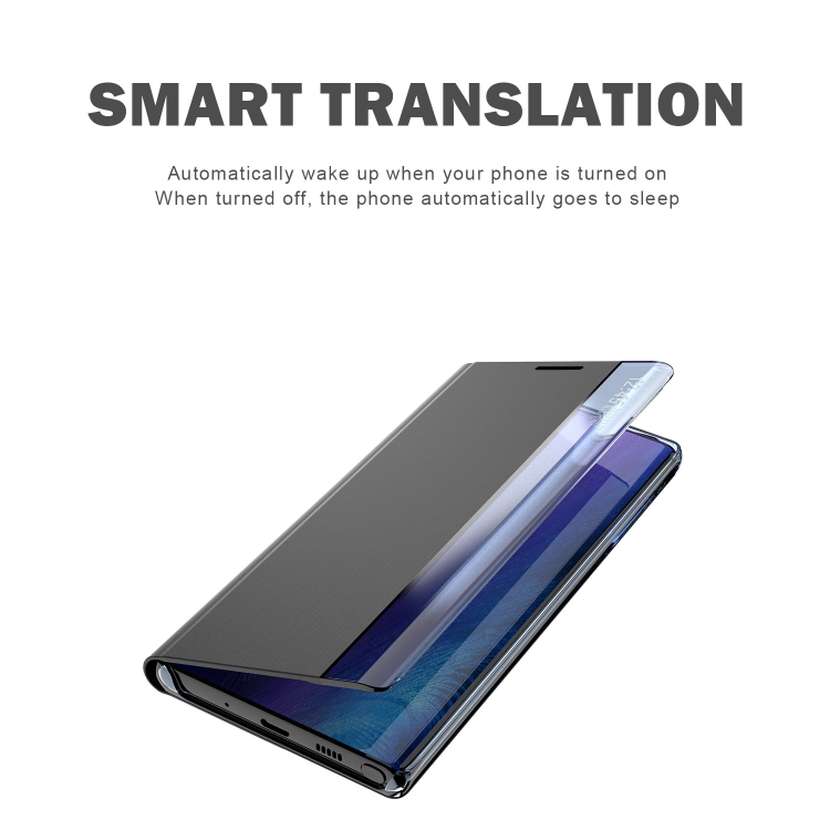 Чехол-книжка с складной подставкой для Самсунг Гелекси А12 темно-синего цвета