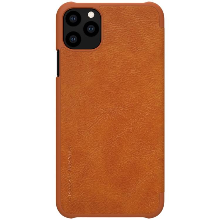 Чехол- книжка NILLKIN QIN Series  на iPhone 11 Pro- коричневый