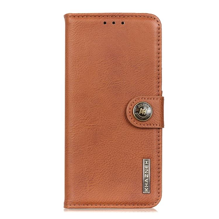 Коричневый чехол-книжка Cowhide  на Galaxy A52