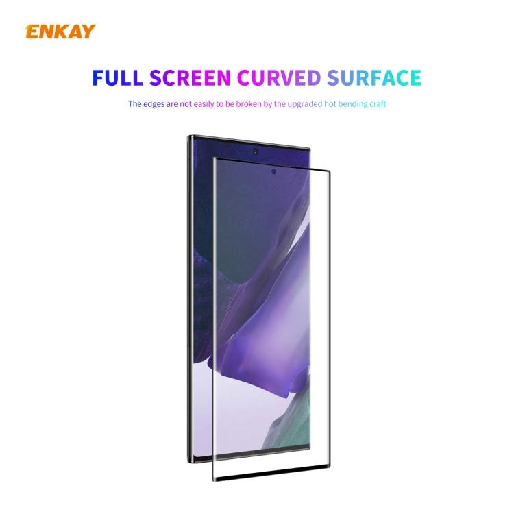 3D Защитная пленка ENKAY Hat-Prince PET Curved Heat Bending HD для Samsung Galaxy Note 20 Ultra - черная