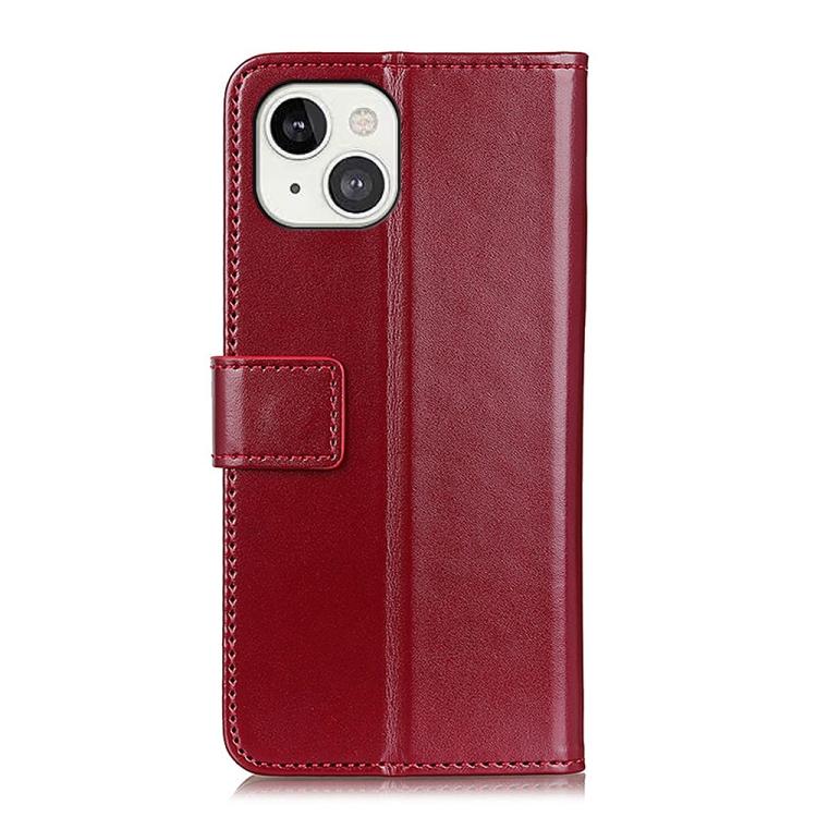 Чехол-книжка на Айфон 13 - винно-красный