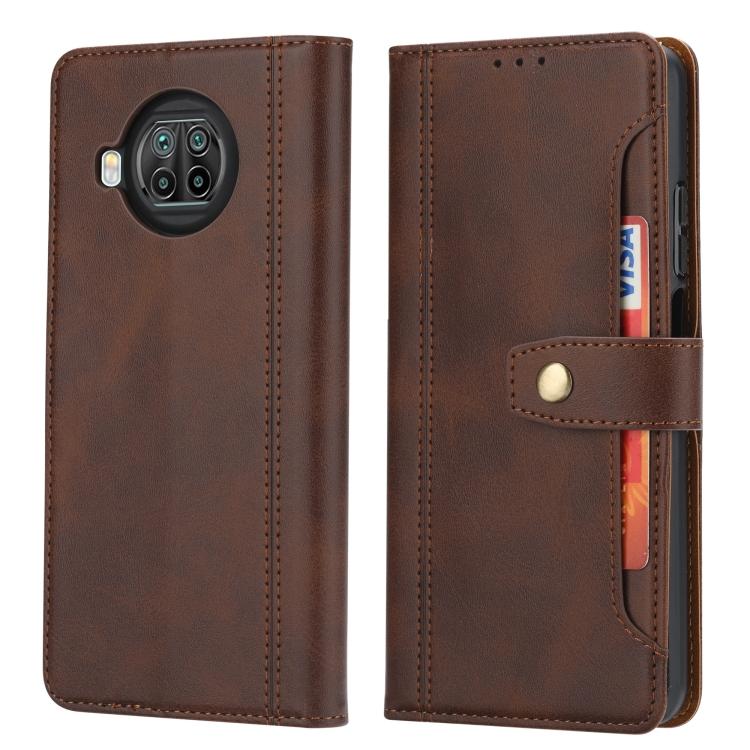 Защитный чехол-книжка с слотами под кредитки для Сяоми Ми 10Т Лайт