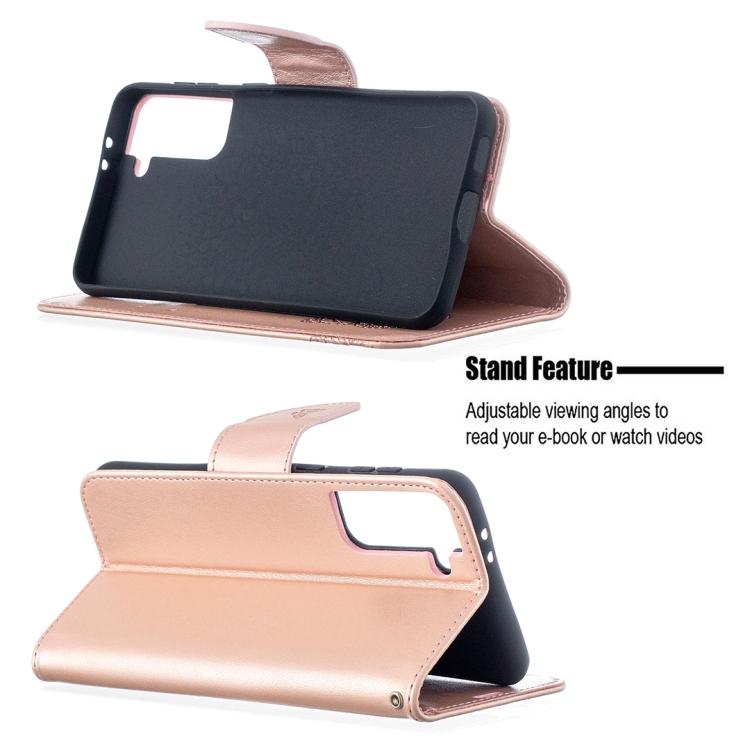 Чехол-книжка со слотами Butterflies розового цвета для Samsung Galaxy S21 Plus