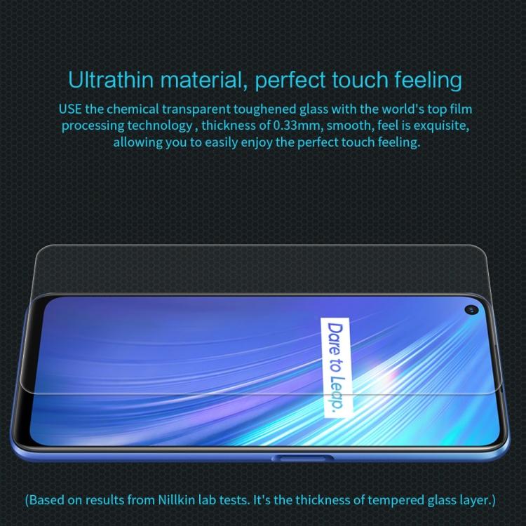 Защитное стекло NILLKIN 9H Full Screen Anti-Explosion для Реалми  6 - прозрачное