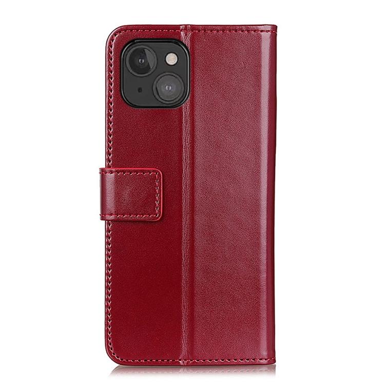 Чехол-книжка на Айфон 13 мини - винно-красный