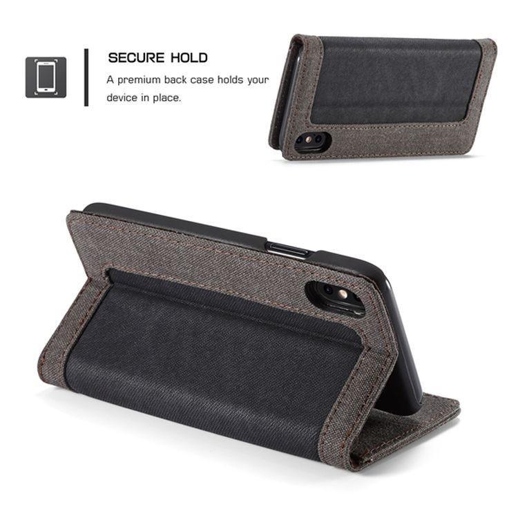 Чехол-книжка магнитная крышка на Айфон  Xs Max 6.5 - черный