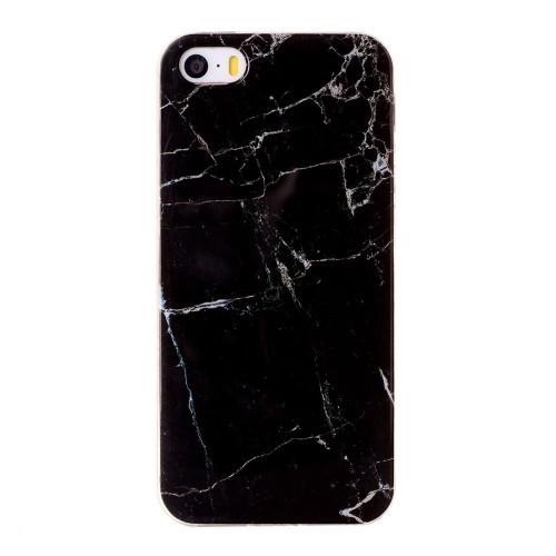 черный чехол Marbling для Айфон 5/ 5S/ SE