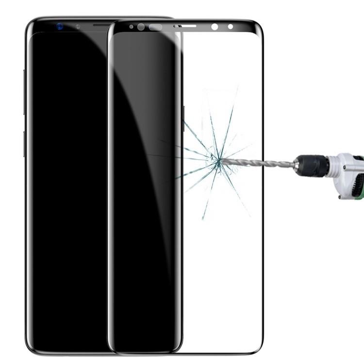 Ударостойкое стекло для Самсунг Гелекси С9 черный