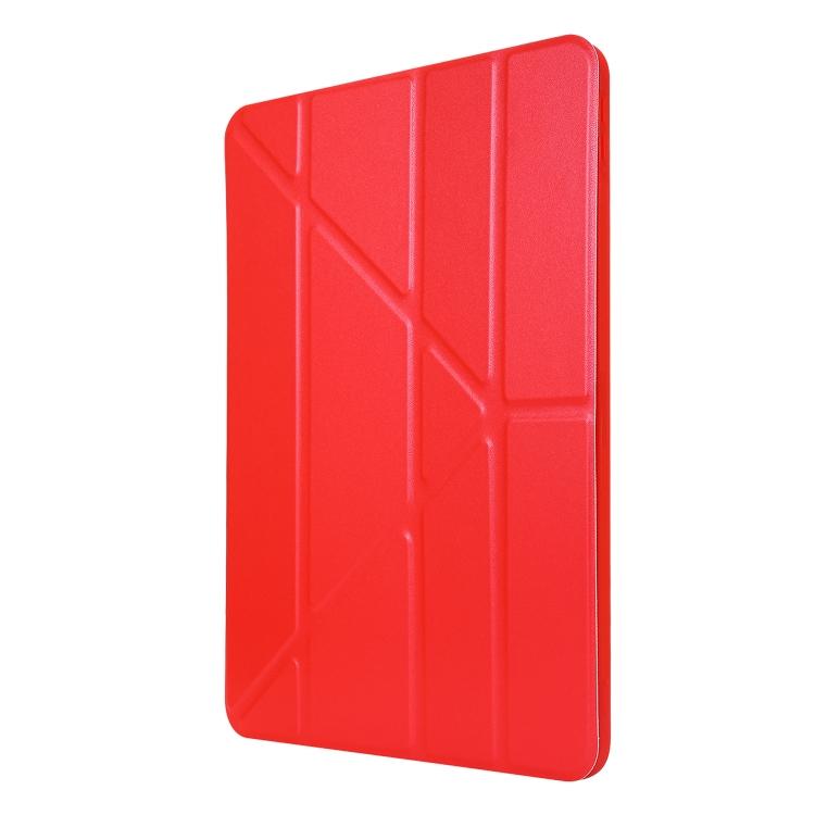 Ярко-красный кожаный чехол-книжка для Айпад Про 11