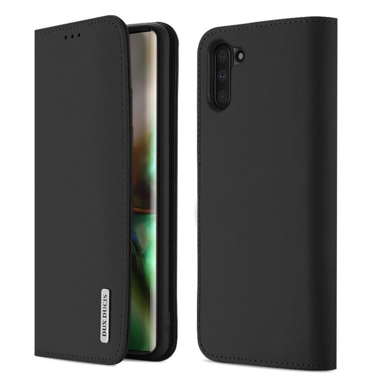 Кожаный чехол DUX DUCIS WISH Series на Samsung Galaxy Note 10-черный