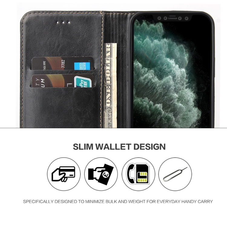 Чехол-книжка на Айфон 12 Mini - черный
