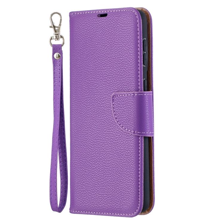 Фиолетовый чехол-книжка Pure Litchi на Galaxy S21 Plus