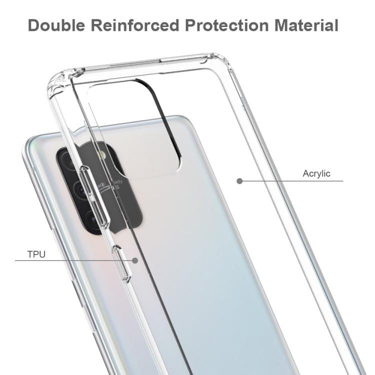 Акриловый противоударный чехол HMC на Samsung Galaxy S10 Lite - черный