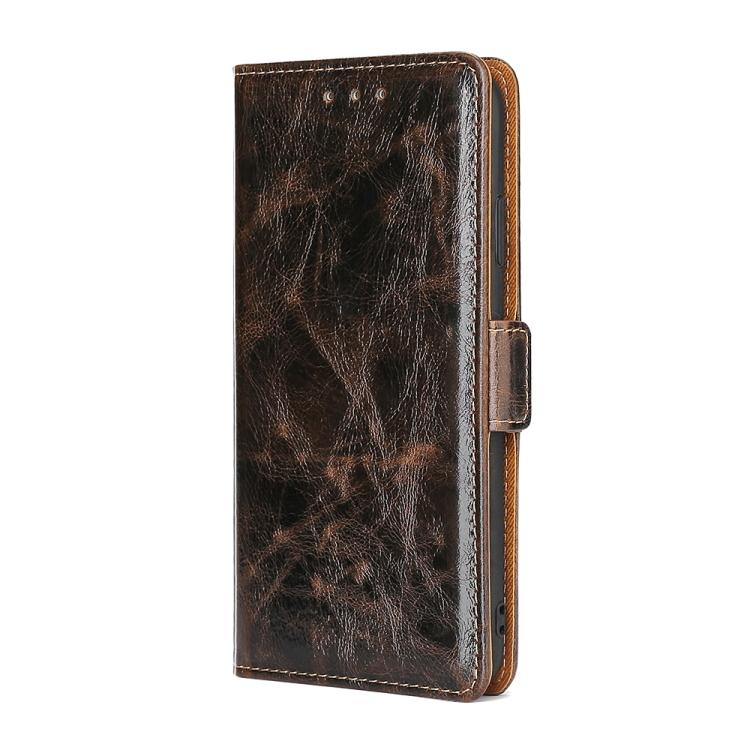 Чехол-книжка Knead Pattern Texture для Ксяоми Редми 9C - коричневый