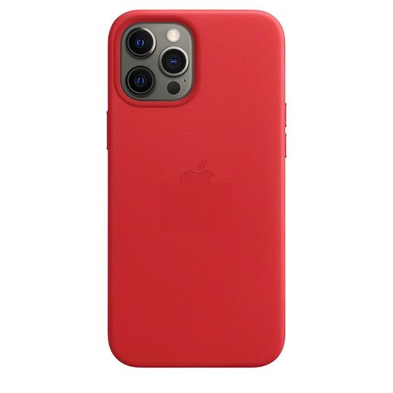 Чехол накладка винно-красного цвета на Айфон 12 Макс